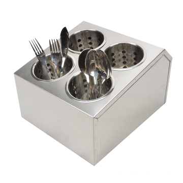 Double Row Stainless Steel Flatware Holder