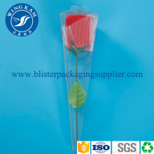 Transparent Flexible Plastic Folding Packaging for Beautiful Flowers