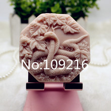 New Product!!1pcs The Chinese Zodiac Snake (zx346) Food Grade Silicone Handmade Soap Mold Crafts DIY Mould
