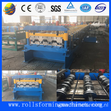 Steel floor deck rolling machine