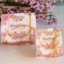 Square candy box for wedding