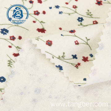 Cotton flower print single jersey knit fabric