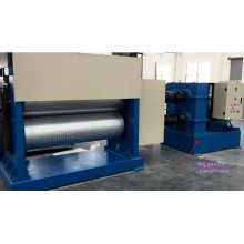 Chequered embossing machine for mild steel