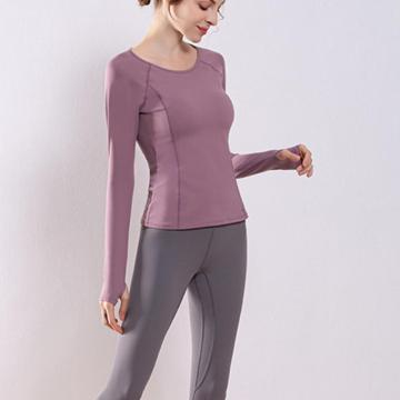 Yoga Shirt With Thumb Hole Active Tops