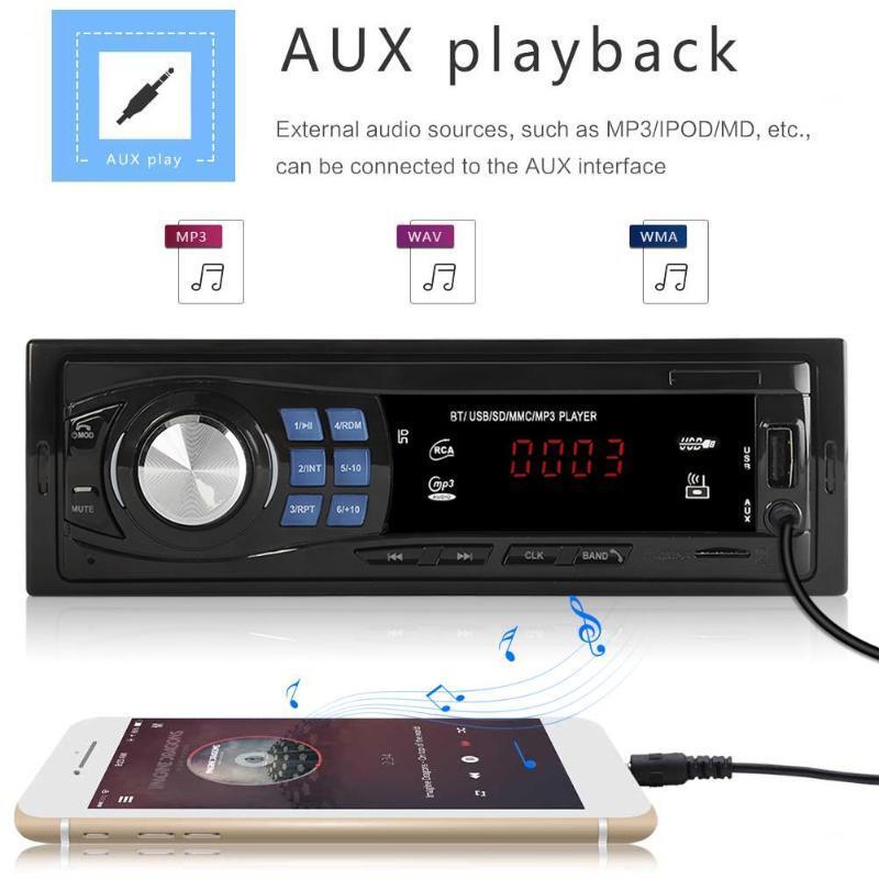 VODOOL 8013 1din In-Dash Car Radio Bluetooth Autoradio Stereo MP3 Player Remote Control FM/USB/AUX Input Auto Audio Car Player