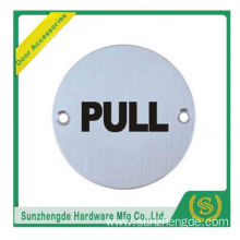 BTB SSP-009SS Pull And Glass Push Door Sign Plate