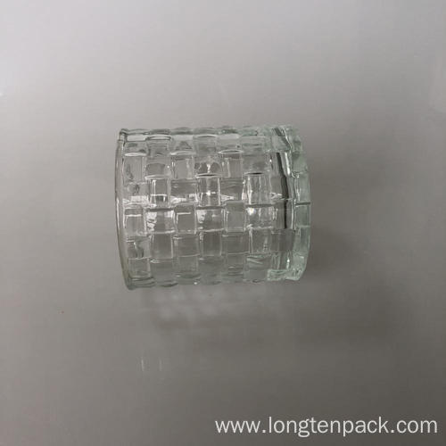 Column with cube glass candle cup