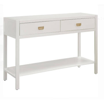White Console Table with Drawers and Shelves Price