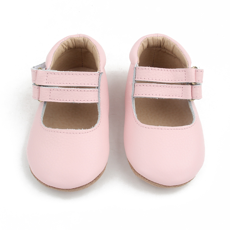 Baby soft sole leather T bar dress shoes