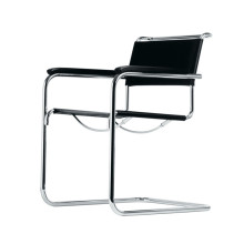 Mart Stam Saddle leather Cantilever Armchair S34