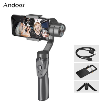 Andoer 3-Axis Handheld Gimbal Stabilizer Smartphone Built-in Lithium Battery with Mini Tripod Stand for Go Pro 4/5/6/7 Cellphone