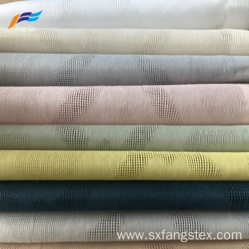 Natural Style Linen Voile Jacquard Curtain Fabric