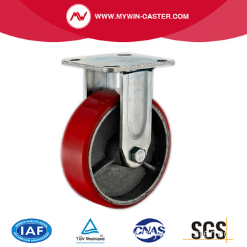 4'' Rigid Heavy Duty PU Industrial Caster with Iron Core