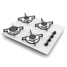 4 Rings Italian Gas Cooker White