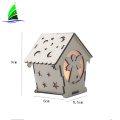 LED Wooden House Villa Ornaments String Lights