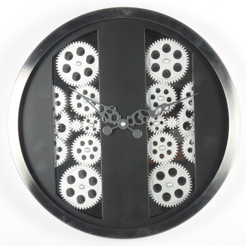 Wall Hanging Black Gear Wall Clock