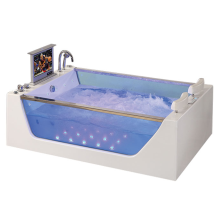 Rectangular Spa Massage Jets Whirlpool Bathtub
