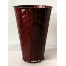 Red plant pot bucket