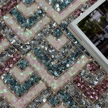 Vogue Aristocratic Sequins Embroidery Fabric
