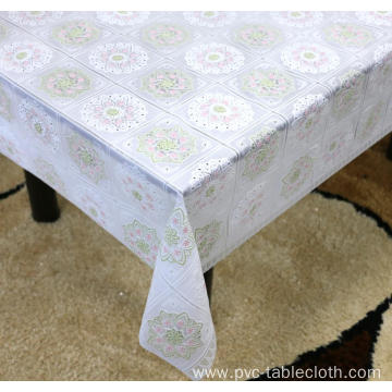 cheap Printed pvc lace tablecloth by roll