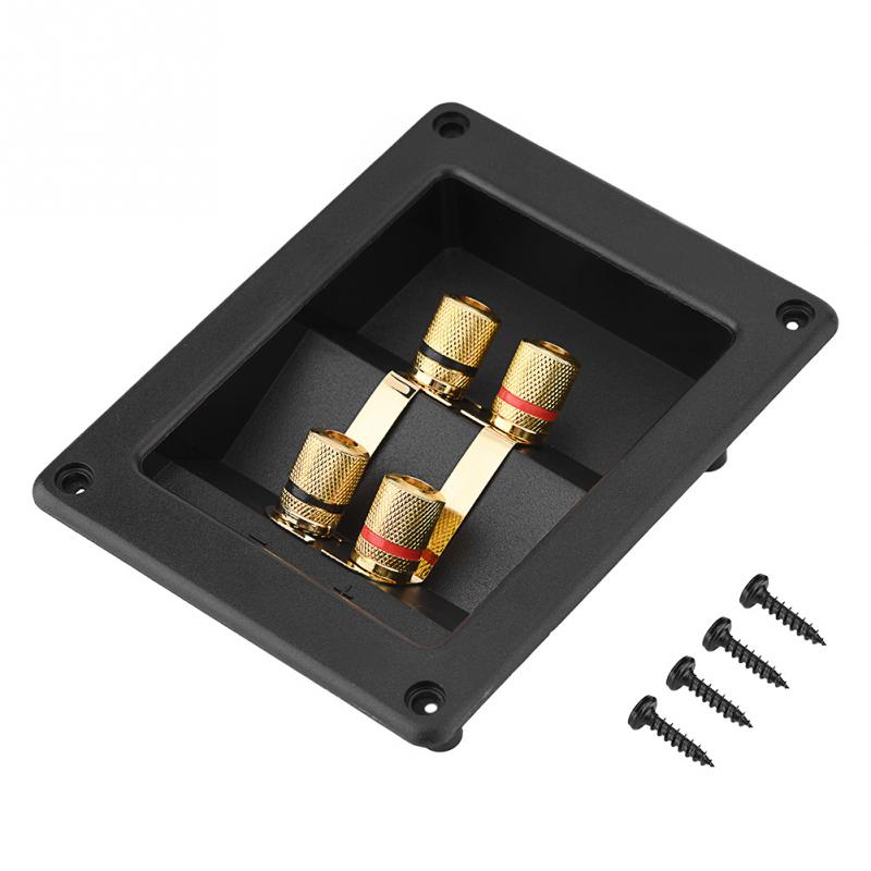 4 Copper Binding Post Terminal Cable Connector Speaker Terminal Box Acoustic Components 3MM thicken Base Plate