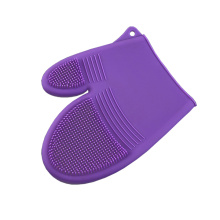 friendly and purple silicone glove