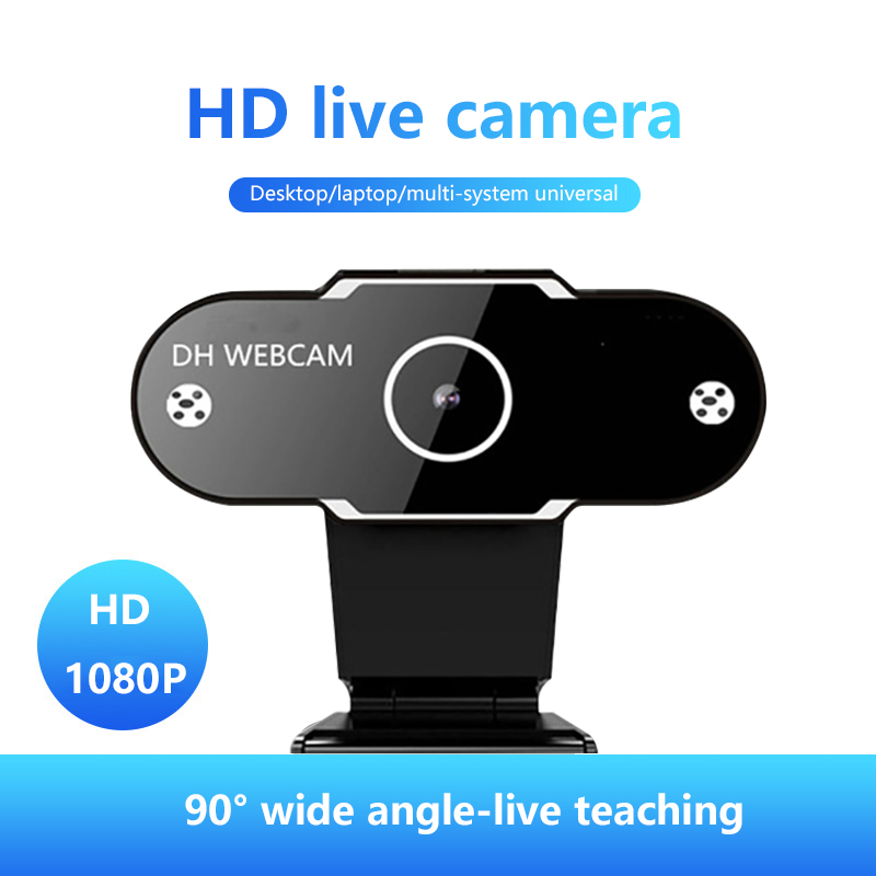 Autofocus HD 1080P Webcam 2K Computer PC Web Camera With Microphone For Live Broadcast Video Calling Conference Work Camara Web