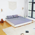 Grey 193*203cm Grounded Flat Sheet For Better Sleep