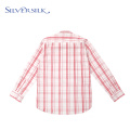 Lattice Full-sleeve Blouse Plaid Boys Button Down Shirts