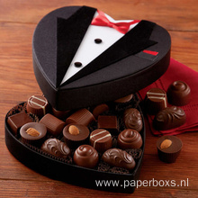 New Design Heart Shaped Chocolate Gift Packaging Boxes