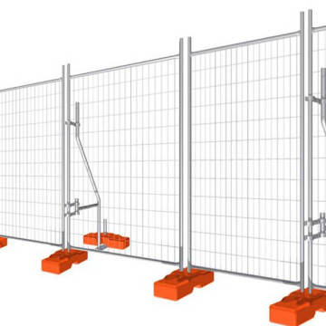 Hot Dipped Galvanized Security hoarding temporary fencing