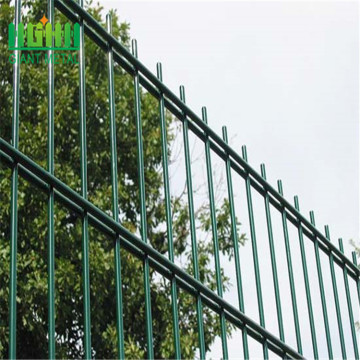 Powder coated twin wire mesh panel fence