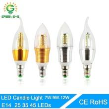 Led bulb E14 Aluminum 3W 6W 9W 12W Led Lamp AC 220V LED Candle Bulb Cool Warm White Lampada Bombillas Lumiere Lampara led light