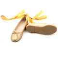 Glitter Yellow Kids Baby Rubber Sole Dress Shoes