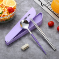 Camping Cutlery Stainless Steel Travel Chopsticks Spoon Set