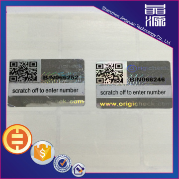Custom Hologram Label Sticker With Series Number