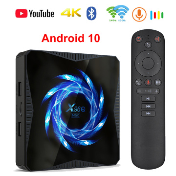 2020 X96Q MAX Smart TV Box Android 10 4G 64GB 2.4G&5G wifi 4K Google Voice Assistant Media Player BT5.0 Youtube set top box 32GB