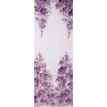 3D flower floral beaded tulle lace fabric