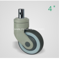 4 Inch Solid Stem Swivel TPR PP Material Medical Caster