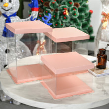 Tall cake plastic box
