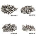 200/50 PCS Stainless Steel/Carbon Steel Flat Head Rivet Nuts Set M3 M4 M5 M6 DIY Hardware Insert Reveting Multi Size Rivet Nuts
