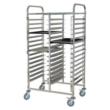 Stainless Steel Doble-Line Cake Pan Trolley