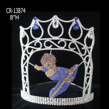 "Custom 8"" Crystal Boy Surfing Theme Pageant Crown"