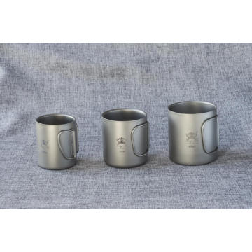 Pure Titanium Cup Bowl Folding Bottle Portable