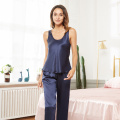 Silk Camisole Two Piece Pjs Women Loungewear Set
