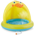Yellow Duck Baby Pool Sprinkler kid play