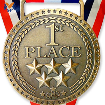 Multiple metal star medal 1st place gold medal