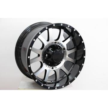 Replica 18x9.0 Black Machine Face wheel rim