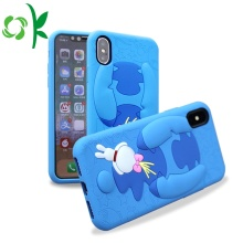 3D Blue Cartoon Silicone Phone Case For Iphone8/X/Max