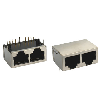 RJ45 Modular Jack 3U gold plating connector 10P8C